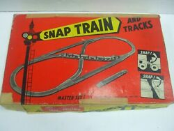 Snap Train Set No.4 Wooden Toy Train Cars And Track A Toy Jack Built W/ Orig. Box