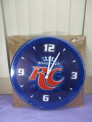 Royal Crown Rc Cola Wall Clock 18 1/2 Diameter New Old Stock And Sealed
