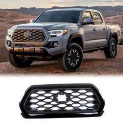 For Toyota Tacoma 2016-2021 Black Sports Front Bumper Center Hood Grill Mesh 1pc