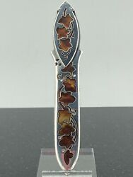 Rare Inlay And Co Sterling Letter Opener Bookmark 1894 Atkin London