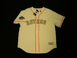 Official Houston Astros 2018 Ring Ceremony Gold Cool Base Jersey Xl