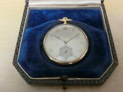 Antique Rare Agassiz Pocket Watch 18k Extra Adjustment With Repair Marks 037/mn