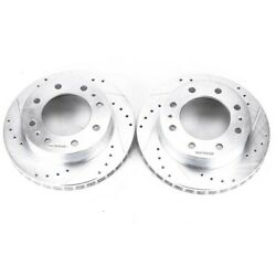 Ar8642xpr Powerstop Brake Discs 2-wheel Set Front New Rwd Awd For Chevy De Ville