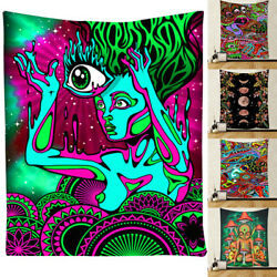 Hippie Hanging Wall Tapestry Colorful Bohemian Psychedelic Blanket home deco*ca