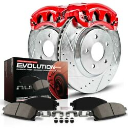 Kc4744c Powerstop 2-wheel Set Brake Disc And Caliper Kits Rear New For Ford Edge