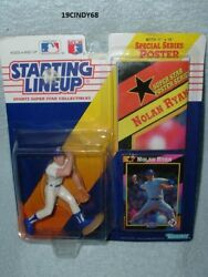1992 Mlb Rangers 34 Nolan Ryan Starting Lineup Figure And Poster-new In Package