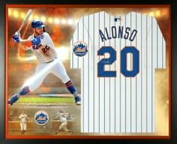 Pete Alonso New York Mets Signed White Nike Authentic Jersey Framed