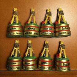 4 Team Pieces Pawns From Danbury Mint Baseball Chess Set-your Choice