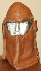 Rare Ww1 Royal Flying Corps. - Cowl Flying Helmet - Numbered And Wd Stamped