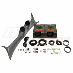 Gray Dual Pod W Maxtow Green Boost And Fuel Psi Gauges For 99-97 Ford Super Duty