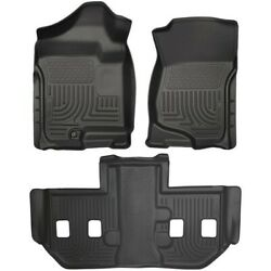 Set-h2118201 Husky Liners Set Of 2 Floor Mats Front New Black For Chevy Pair