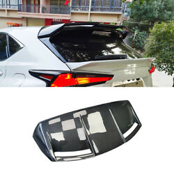 For Lexus Nx300h 2015-21 Real Carbon Fiber Mz Style Roof Trunk Spoiler Wing Flap