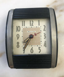 Vintage Rollup Mechanical Westclox Clock Made in USA