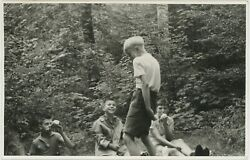 Vintage Original 1959 Photo Boy Portrait Youth Group Boys At Play Young Men