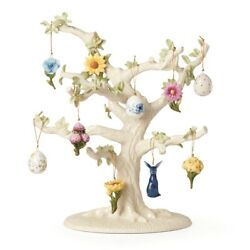 Lenox 893394 Floral Easter Ornament And Tree Set - 10 Piece