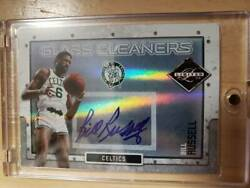 Limited 49 Sheets Signature 2009 -10 Panini Ed Glass Cleaners Bill Russell Auto