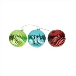 Northlight Lighted Multi-color Mercury Glass Finish Ribbed Ball Christmas Orname