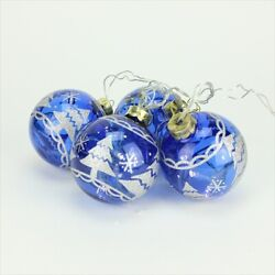 Northlight Battery Operated Blue Glass Ball Led Lighted Christmas Ornaments,
