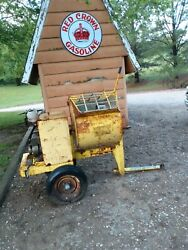 Concrete Mixer Gas. Good Condition - Used Highway Yellow