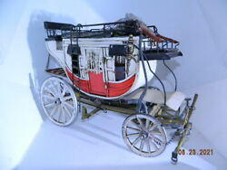 Amazing Western Scale Stagecoach Handmade Wood Detailed Sample Wow