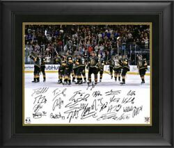 Vegas Golden Knights 2018 Western Conference Champions Signed 16 X 20 Framed