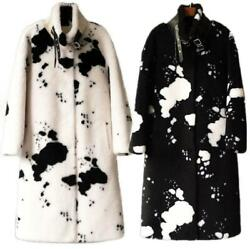 Womenand039s Single Breasted Coat Fur Cozy Lambswool Windbreaker Bags Party Snow