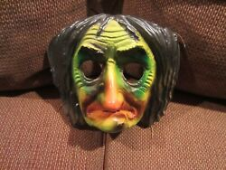 Witch Mask Vintage Halloween Ben Cooper- 70's- With Original Tag