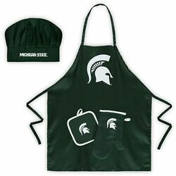 Michigan State Spartans Chef Hat, Apron, Oven Mitt And Pot Holder Set