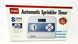 Toro Automatic Sprinkler Timer 8 Zone - 3 Watering Schedules - Model 53333