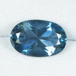4.73cts Best Color And Blue Gia Certif Natural Aquamarine Oval...