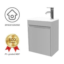 Eclife Small Bathroom Vanity With Sink Paint Modern Design 16 Wall Mounted