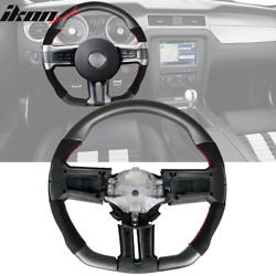 Fits 10-14 Ford Mustang Matte Cf And Alcantara Steering Wheel W/ Red Stitching