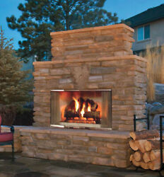 Majestic Montana 36 Outdoor Stainless Steel Wood Fireplace Montana-36 Tradition