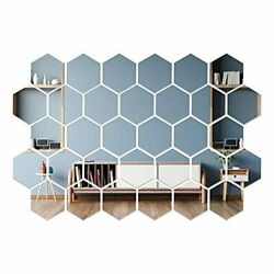 32 Pcs Removable Acrylic Mirror Wall Sticker For Home Room Décor Self Adhesive