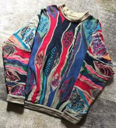 Vintage Coogi Cotton Knitted Sweater Size L Made In Australia Multicolor No712