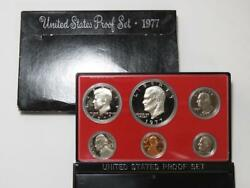 1977-s Us Proof Set - 6-coin W/ Box