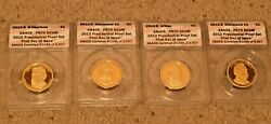 2012s 1 Presidential Proof Dollar Set First Day Of Issue Anacs Pr70dcam-4 Coins