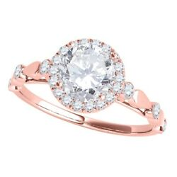 Diamond Engagement Rings For Women 0.50 Cttw Natural Diamond Halo Antique Ring