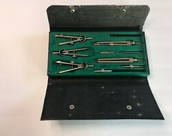 Vintage Steel Craft Draftsman Drawing Set Compass. Made In Germany 601