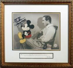 Signed Profiles Of Imagination Walt Disney Cel And Mickey Sericel Voice Bret Iwan