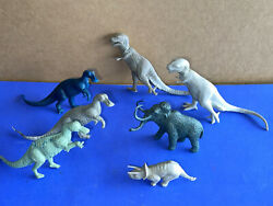 Vintage Original 1960and039s Prehistoric Dinosaurs Lot Marx And Mpc