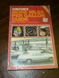 Chilton's More Miles Per Gallon Guide 2nd Edition 1980 Weiers