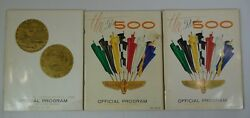 Lot Of 3 Indianapolis 500 Program 1966 G. Hill 1967 A. J. Foyt 1968 B. Unser