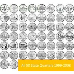 1999-2008 Complete 50 State Quarters Set D And P Mix 50 Different Circulate Coinsandnbsp