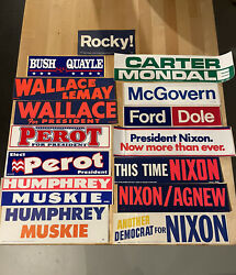 15 Different Political Bumper Stickers. These Are Original In Great Shape.