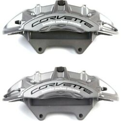 Set-ac1722651-f Ac Delco 2-wheel Set Brake Calipers Front Driver And Passenger New