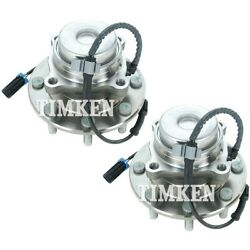 Set-tmha590353 Timken Set Of 2 Wheel Hubs Front Driver And Passenger Side New Pair