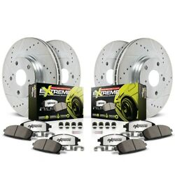 K2705-26 Powerstop Brake Disc And Pad Kits 4-wheel Set Front And Rear New
