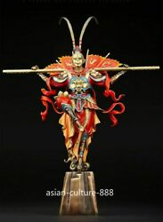 20 Rare Chinese Color Bronze Fengshui Sun Wukong Monkey King Success 凯旋 Statue