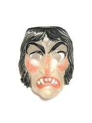 Vtg Ben Cooper Rare Halloween Plastic Mask 60s Classic Witch Clear Hag Old Face